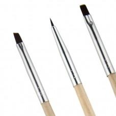 Набор кистей 3 шт (деревянная ручка)