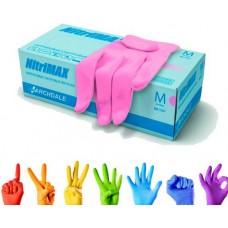 Перчатки нитриловые розовые  размер L, 10 штук