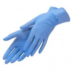 Перчатки нитриловые голубые  размер XS, 50 штук