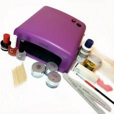 Стартовый набор для наращивания ногтей с УФ-лампой 36W Runail и гелем Cosmo